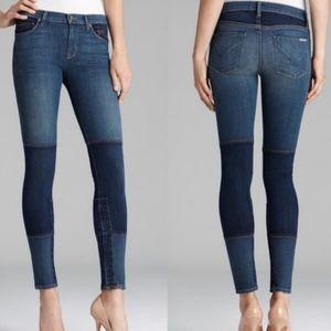 {Hudson} patchwork skinny jeans